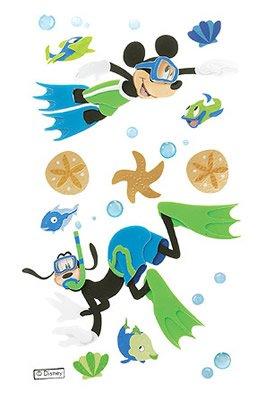 JOLEES Disney 3-D Stickers, Mickey and Goofy ()