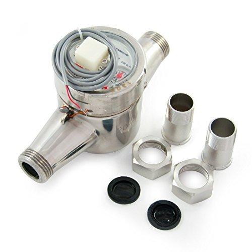 3/4'' Hot Water Meter - Stainless Steel, Pulse Output by EKM Metering Inc. (Image #1)