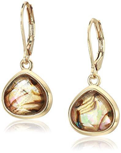 Anne Klein Women's Gold/Multi Stone Drop Earrings