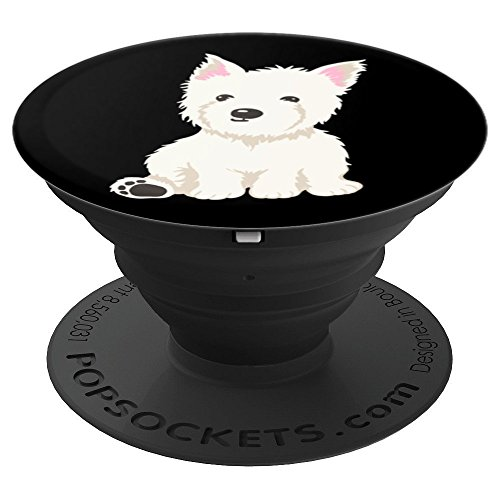(West Highland White Terrier Westie - PopSockets Grip and Stand for Phones and Tablets)