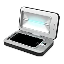 PhoneSoap 2.0 - Phone Sanitizer and Universal Charger, Uses UV-C Light To Sanitize and Kill Bacteria, Works With iPhone X, iPhone 8 Plus and Other Large Phones - Black