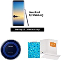 "Samsung Galaxy Note8 6.4"" 64GB 4G LTE Factory Unlocked Android Smartphone + $100 Gift Card + Wireless Charger"