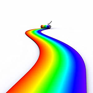 Wallmonkeys Brush Roller Paints Rainbow Peel and Stick Wall Decals WM152929 (48 in H x 48 in W)