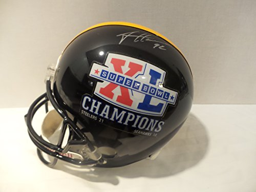 James Harrison Signed Pittsburgh Steelers Autographed Riddell Helmet Certified Authentic Autograph