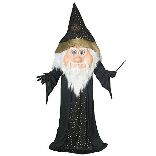 Forum Novelties Men's Plus-Size Oversized Wizard Costume, Black/Gold, (Oversized Halloween Costumes Adults)