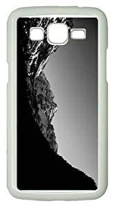 discount coversmonochrome forest mountains scenery PC White case/cover for Samsung Galaxy Grand 2/7106