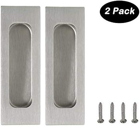 Rectangular Plato Plano Flush empotrada Puerta Corredera de bolsillo asas 120 mm * 40 mm (4.8 * 1.6): Amazon.es: Bricolaje y herramientas
