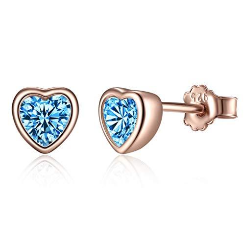 (Sterling Silver Earrings Dazzling Mickey Stud Earrings For Women Brincos Sterling Silver Jewelry Bijoux GOS452-G)