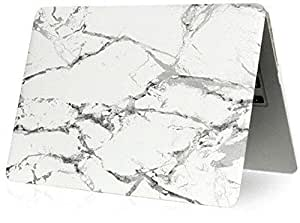 Marble Pattern Soft-touch Hard Shell Case Cover For Apple Macbook Air 13 13.3 Inch Model:A1466/a1369 [duplus]