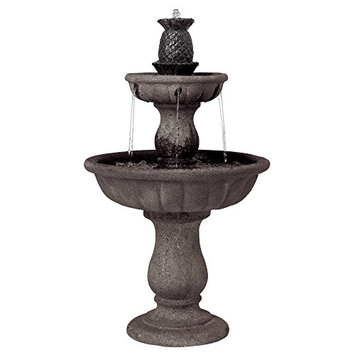 John Timberland Italian Classic Two Tier Outdoor Floor Water Fountain 37