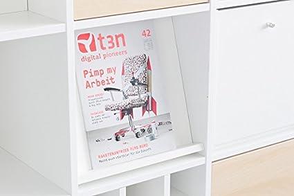 Folletos Atril Para Ikea Expedit Estantería Color Blanco Amazon