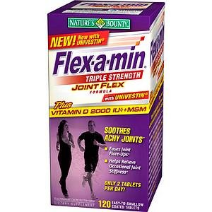 Flex-A-Min Joint Flex Formula with Vitamin D 2000IU and MSM, Triple Strength, Tablets 120 ea by BB