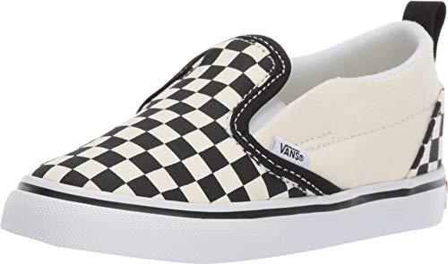 Vans Toddler T Slip ON Checkerboard Black White Size 8