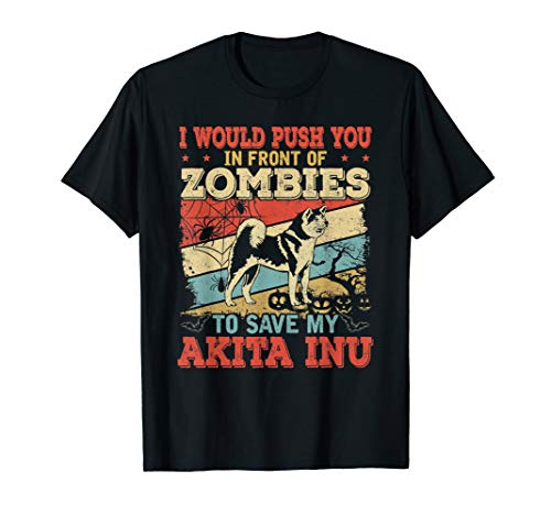 Vintage Akita Inu Shirt Dog Lover Halloween Costume Gift ()