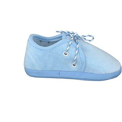 Omnia-Baby Pantau.eu Babyschuhe Lauflernschuhe Kinderschuhe Babyschühchen Krabbelschuhe, aus Samtstoff (Nicki) - Zapatos primeros pasos para niño Azul