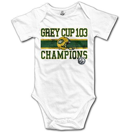 White Baby's Edmonton Eskimos Grey 103 Champs Team Sleeveless Romper Jumpsuit (Eskimo Outfit)