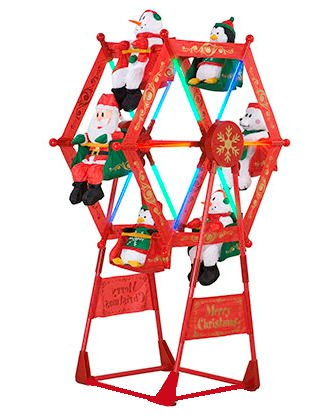 5 rotating christmas ferris wheel w characters by gemmy - Christmas Ferris Wheel Decoration