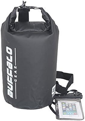 c2474f811a Buffalo Gear Waterproof Duffel Bag Large Dry Bag Backpack for Travel