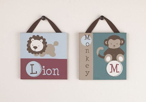 Jackson Canvas Wall Art – Set of 2 – 10 in x 10 in, Baby & Kids Zone
