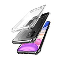 Deals on AmCase Clear Hybrid TPU Corner Bumper Protection Case for iPhone 11