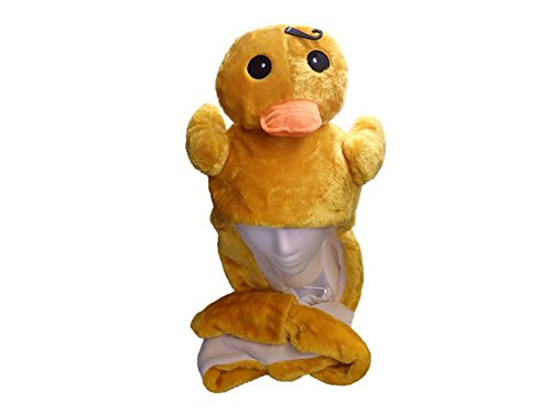 Oregon Duck Costumes (Plush Duck Hat Ducky - Fits Kids and Adults - With Long Plush Pocket Flaps)