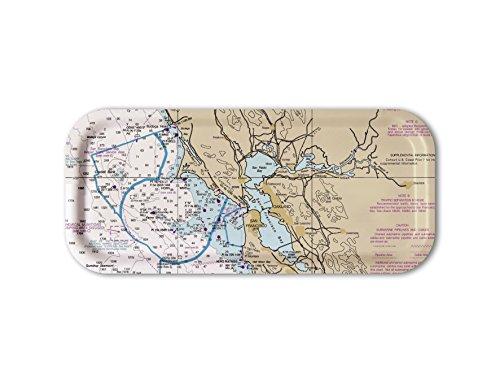 San Francisco Bay & Farallon Islands / Snack Tray, Decorative Tray, 6