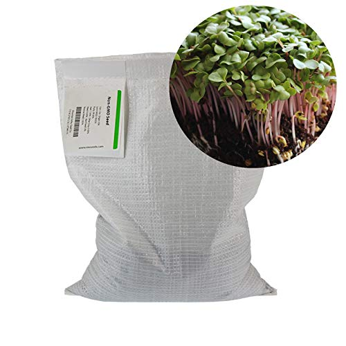 Radish Sprouting Seed - Red Arrow Variety - 5 Lb Bulk Seed - Heirloom Radish Sprouts - Non-GMO Sprouting and Micro Radishes by Mountain Valley Seed Company (Image #2)