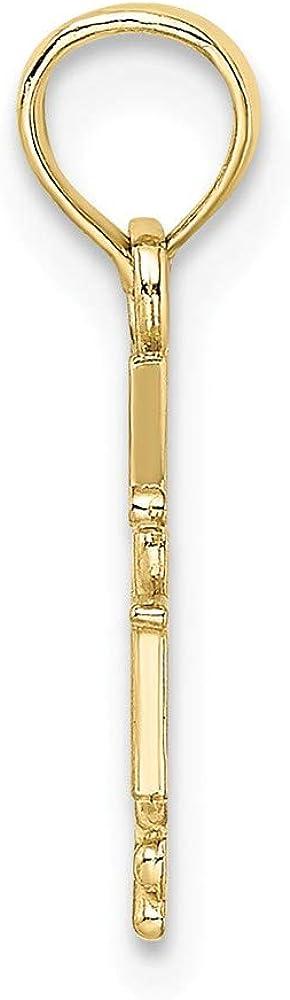 10k Yellow Gold RN Caduceus Pendant