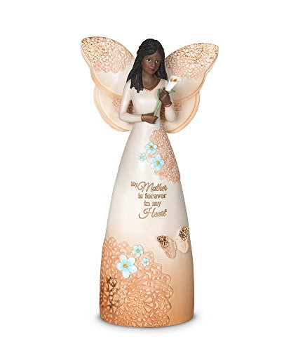 Pavilion Gift Company 19100 Mother is Forever in My Heart Ebony Angel Figurine, 9-Inch