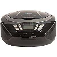 Precision Portable Bluetooth Boombox Stereo with Handsfree Speaker Phone – Aux-in/CD-Player/SD Card/USB