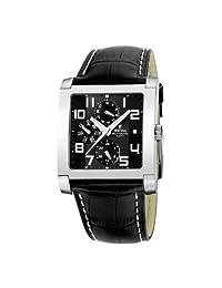 Festina Men's Multifunction F16235/F Black Leather Quartz Watch with Black Dial