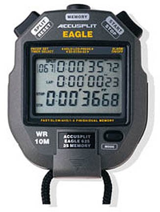 - ACCUSPLIT AE625M35 Eagle Stopwatch with 35 Memory