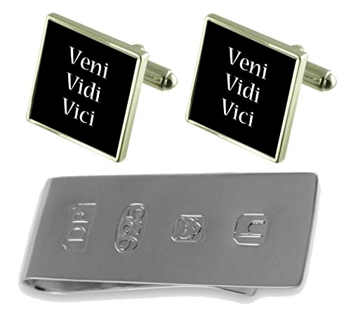 Latin James Veni Money Vidi Clip amp; Vici Cufflinks Bond pq1WEg