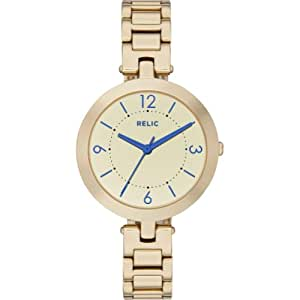 Relic by Fossil Camille Gold Mirror Stainless Steel Womens Watch ZR34229