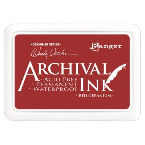 (Archival Ink Pads Designer Series - Red Geranium)