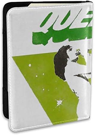 QUEEN クイーン (ボヘミアン・ラプソディ公開記念) パスポートケース メンズ レディース パスポートカバー パスポートバッグ ポーチ 6.5インチ PUレザー スキミング防止 安全な海外旅行用 収納ポケット 名刺 クレジットカード 航空券
