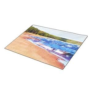 Cronoly Doormat Marquette Waves Monogram Doormat