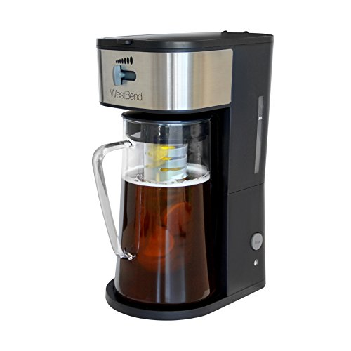 - West Bend IT500 Fresh Flavorful Iced Tea and Coffee Maker Removable Filter with Infusion Tube, 2.75-Quart, Black
