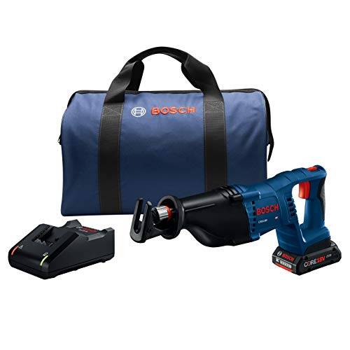 Bosch Power Tools Reciprocating Saw Kit – CRS180-B15 18V D-Handle Saw w/ (1) 4.0 Ah CORE Battery