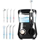 ELLESYE 600ml Water Flosser with 1 Toothbrush Head & 7 Multifunctional Jet Tips for Home & Family, Leak-Proof Quiet Design Dental Oral Irrigator for Teeth Cleaning & Braces Care, Adults & Kids Use
