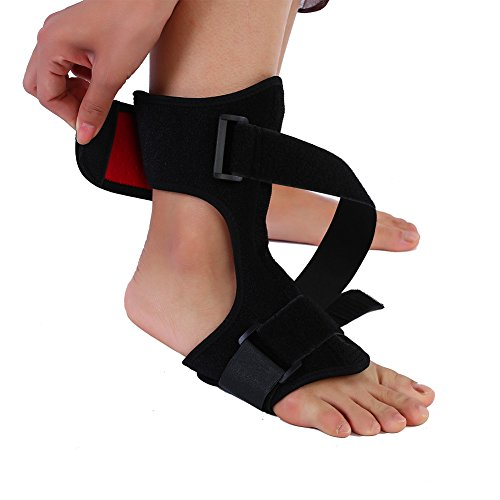 Foot Ankle Joint Support, Adjustable Orthosis Strap Foot Knee Sprain Fracture Orthosis Brace