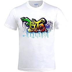 Overbearing Graffiti World Tour 2016 gentleman Round Neck Tee shirts White