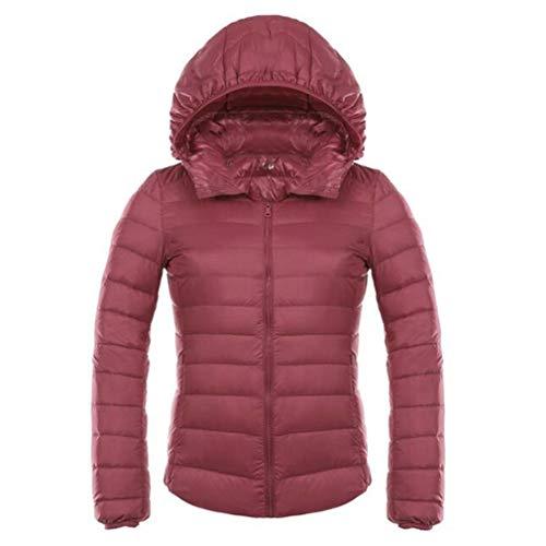 Down Down Warm Hooded Jacket Short Light Jackets Juleya Slim Coat Duck Women Coat Ultra Down Jacket Pink qCRwxIT6