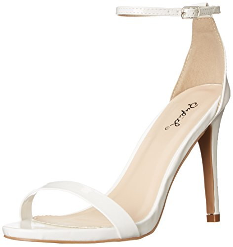 Qupid Women's Grammy-01 Dress Sandal White- 7.5 B(M) US