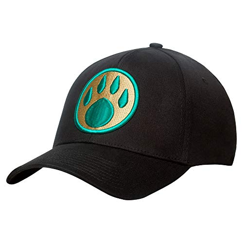 JINX World of Warcraft: Mists Pandaria Monk Paw Stretch-Fit Baseball Hat (Black, L/XL)