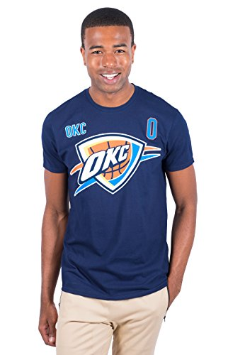 NBA Russell Westbrook Oklahoma City Thunder Men's T-Shirt Short Sleeve Tee Shirt, Large, Navy (Celtics Boston Snap)