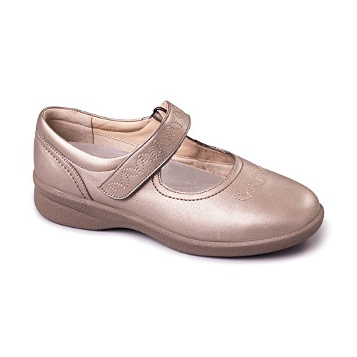 Wide Plus Leather Width Shoe Extra Women's amp; Super eeee Free 'sprite Range 2' Uk Fit Footcare Plus 35mm System Grey For Pewter Dual Comfort Eee Padders Horn Heel TEdqE