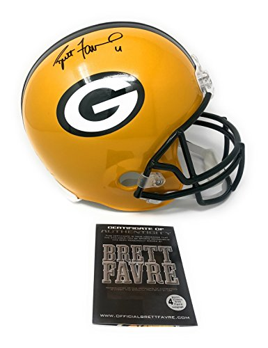 Brett Favre Green Bay Packers Signed Autograph Full Size Helmet B Favre Certified Brett Favre Green Bay Packers