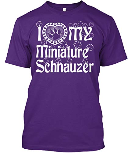 I Love My Miniature Schnauzer M - Purple Tshirt - Hanes Tagless Tee ()