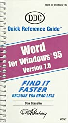 Word 7 for Windows 95: Quick Reference Guide